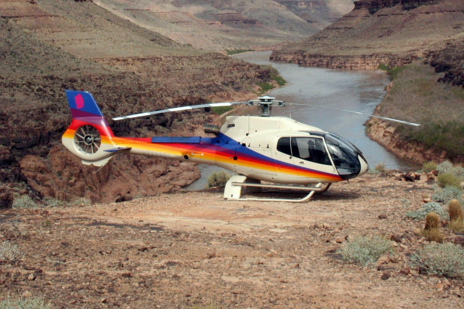 Grand Canyon West Rim Motor Coach Tour With Helicopter, Boat And Skywalk Tickets