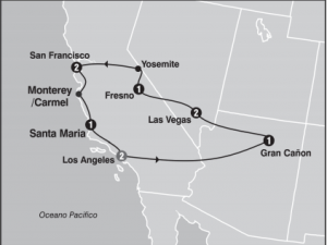Full West Tour From Los Angeles With Breakfasts